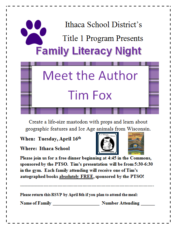 Tim Fox Literacy Night