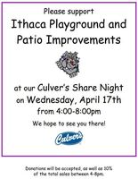 Culver's Share Night for Playground and Patio Improvement