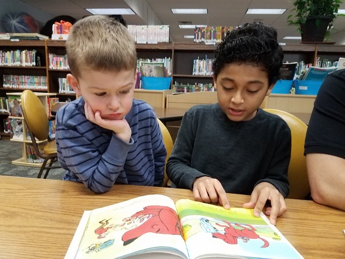 4K and 5th Grade Reading Buddies