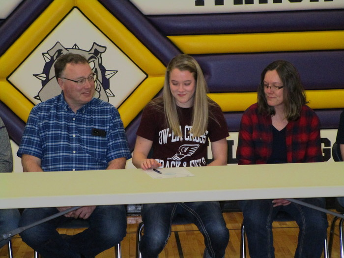 Haley Durst with Mom and Dad