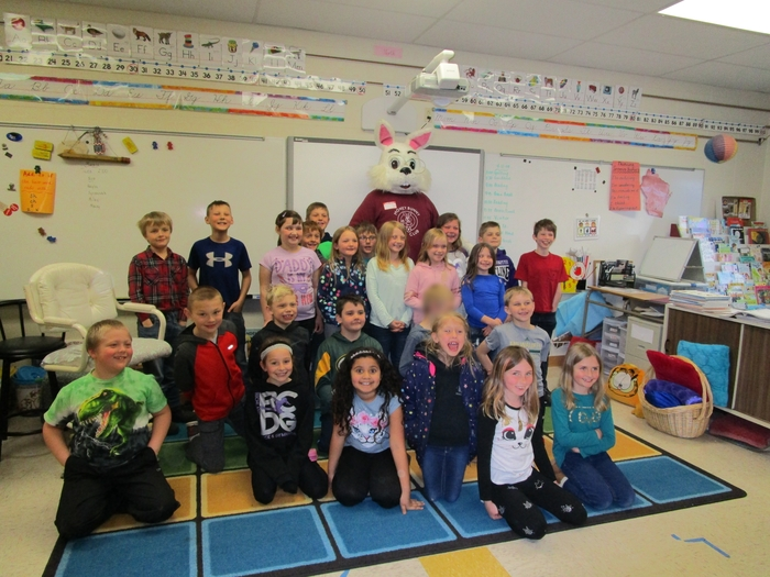 Money Bunny with 2nd graders