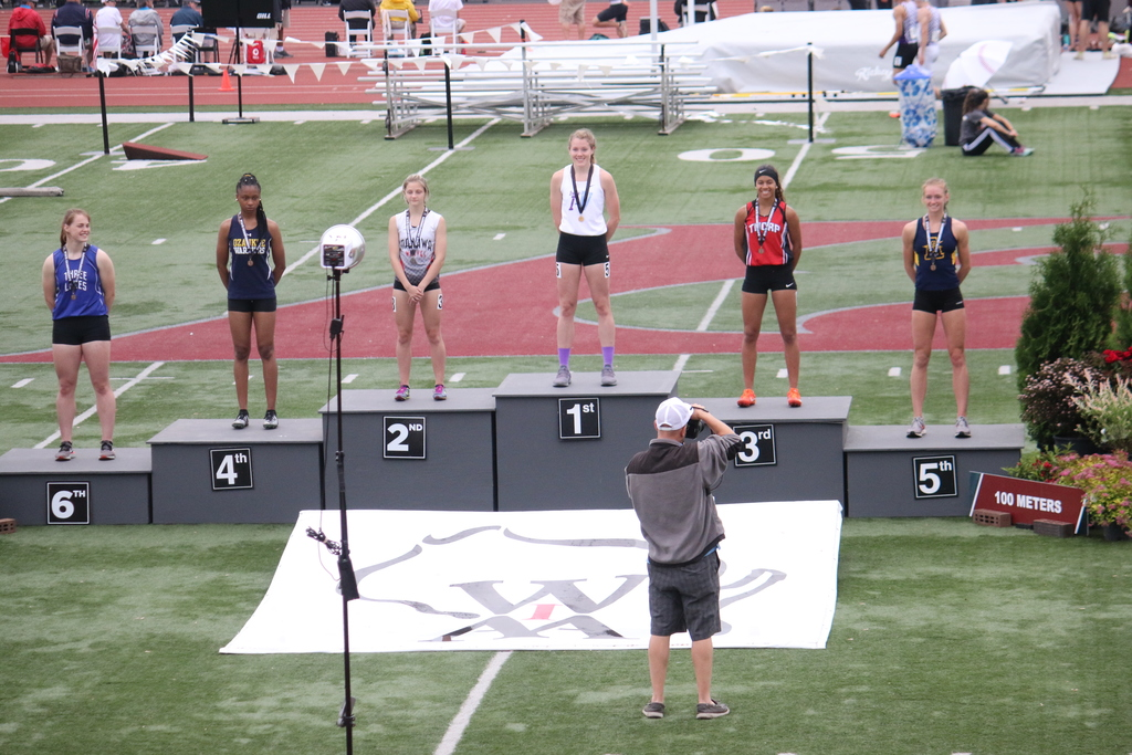 State 2019 Haley Durst 100m podium