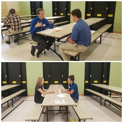 Careers Class participates in mock interviews