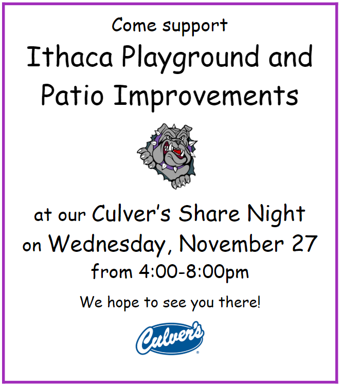 Share night for Patio and Playground improvements