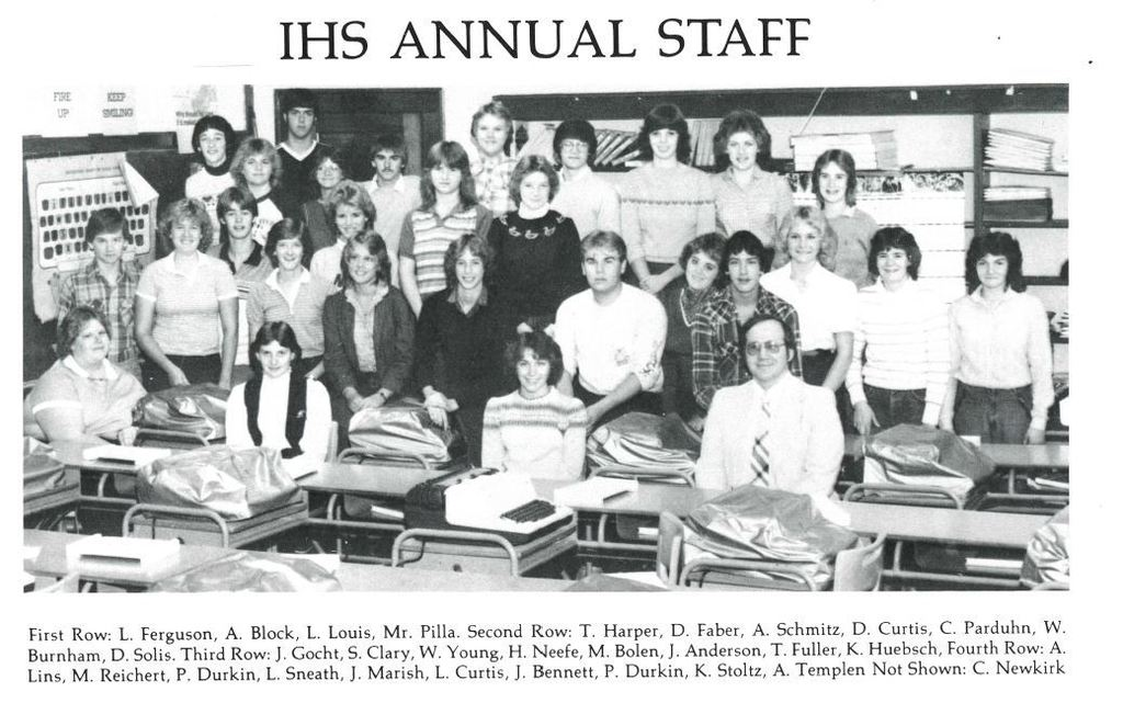 1984 yearbook staff