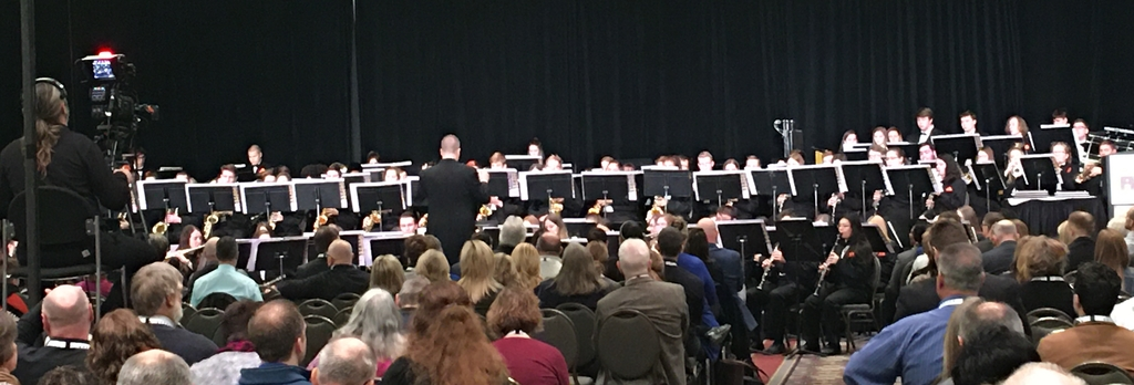 Mr. Jeff Behrens and Richland High School Band at State School Board Convention