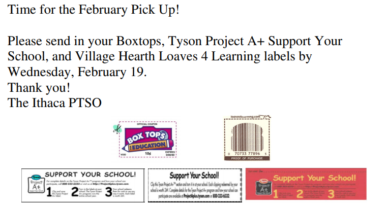 Boxtops Collection time!
