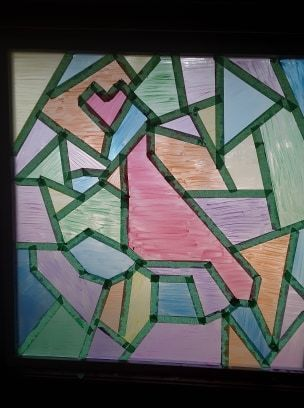 Stained glass painted
