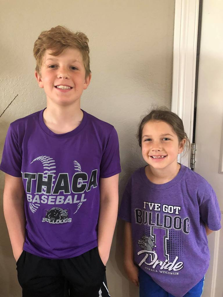 Spencer and Elise sport their Purple Pride