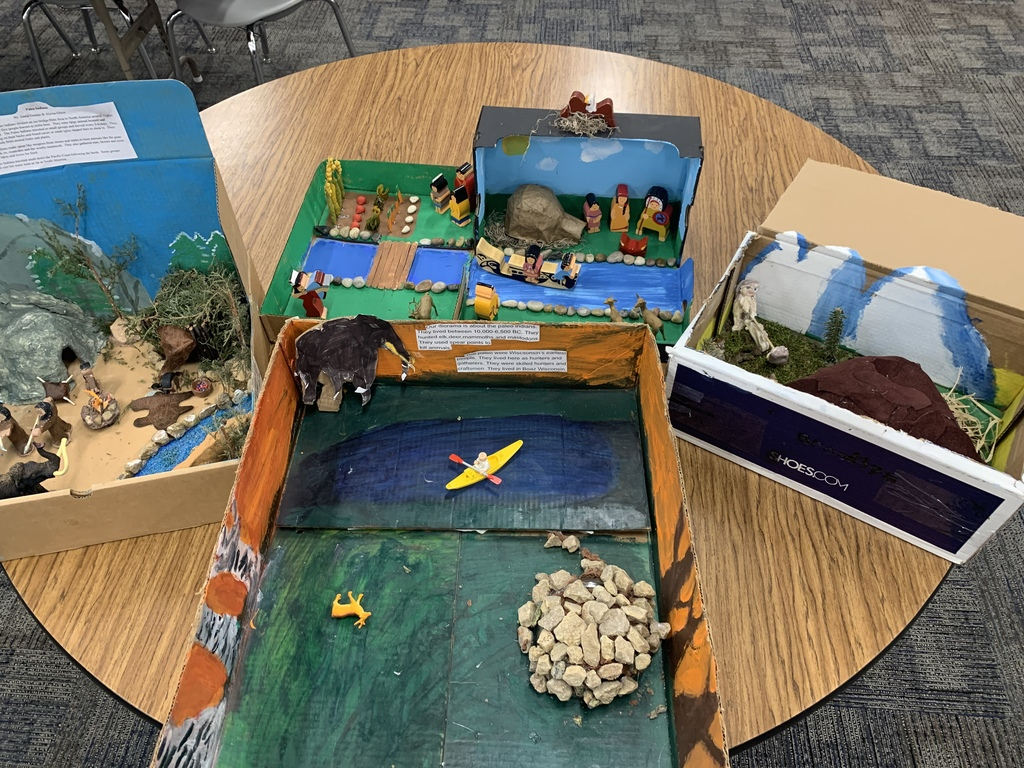 Dioramas from our 4th graders