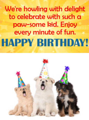 Have a Paw-some birthday!